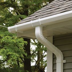 Raingo Vinyl Gutter And End Caps There Is No Dealer In My Area For The Brand Larry Hall Uses For Rain Gutter G Gutters Cleaning Gutters How To Install Gutters