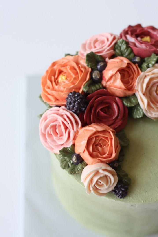 Buttercream flower cake - Eat Cake Be Merry