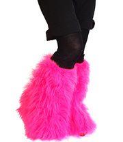 Insanity Fluffy Leg Warmers (Neon Pink)