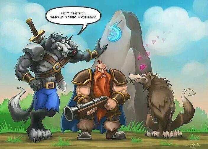 Jajaja Worgen Loves Hunter Wolf Pet World Of Warcraft Characters Warcraft Funny World Of Warcraft
