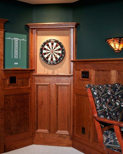 Slate Wall Panels Garage Man Cave Ideas Garage Storage: Basement Billiard Room Dart Board In Saratoga Springs NY