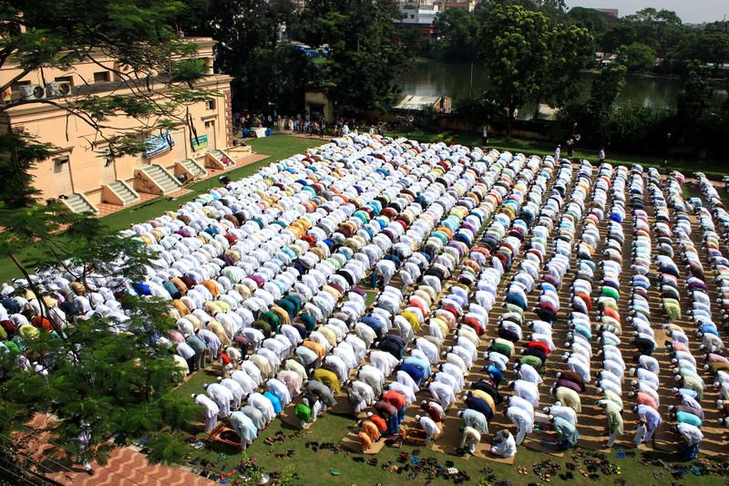 Muslim Prayer A Group Of Muslim Are Praying Kolkata West Bengal