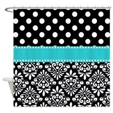 black and turquoise shower curtain. black turquoise damask Shower Curtain Damasks Turquoise and  nickbarron co 100 Black And Images My