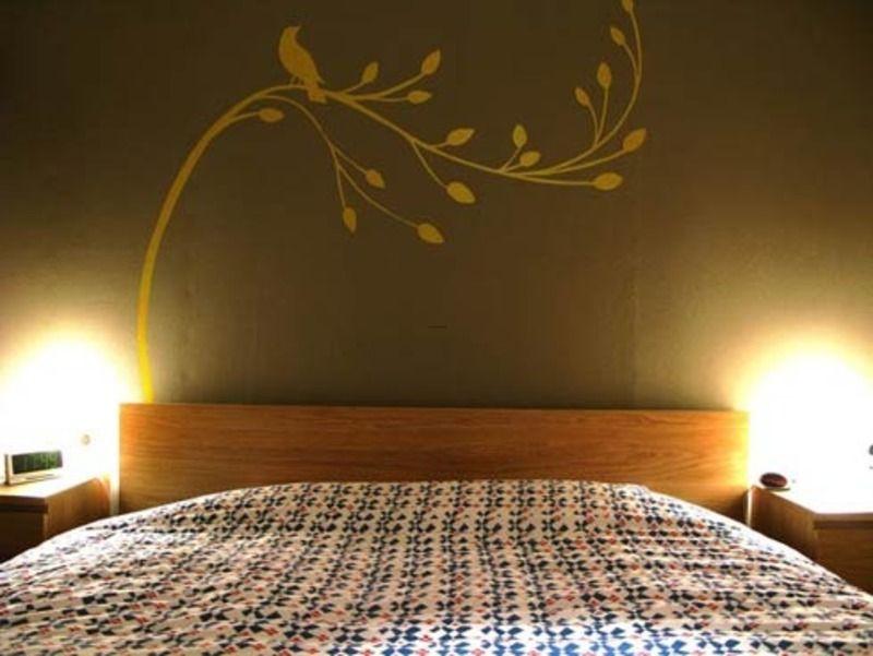 Bedroom Wall Paint Design Ideas | Wall Painting Idea | Pinterest ...