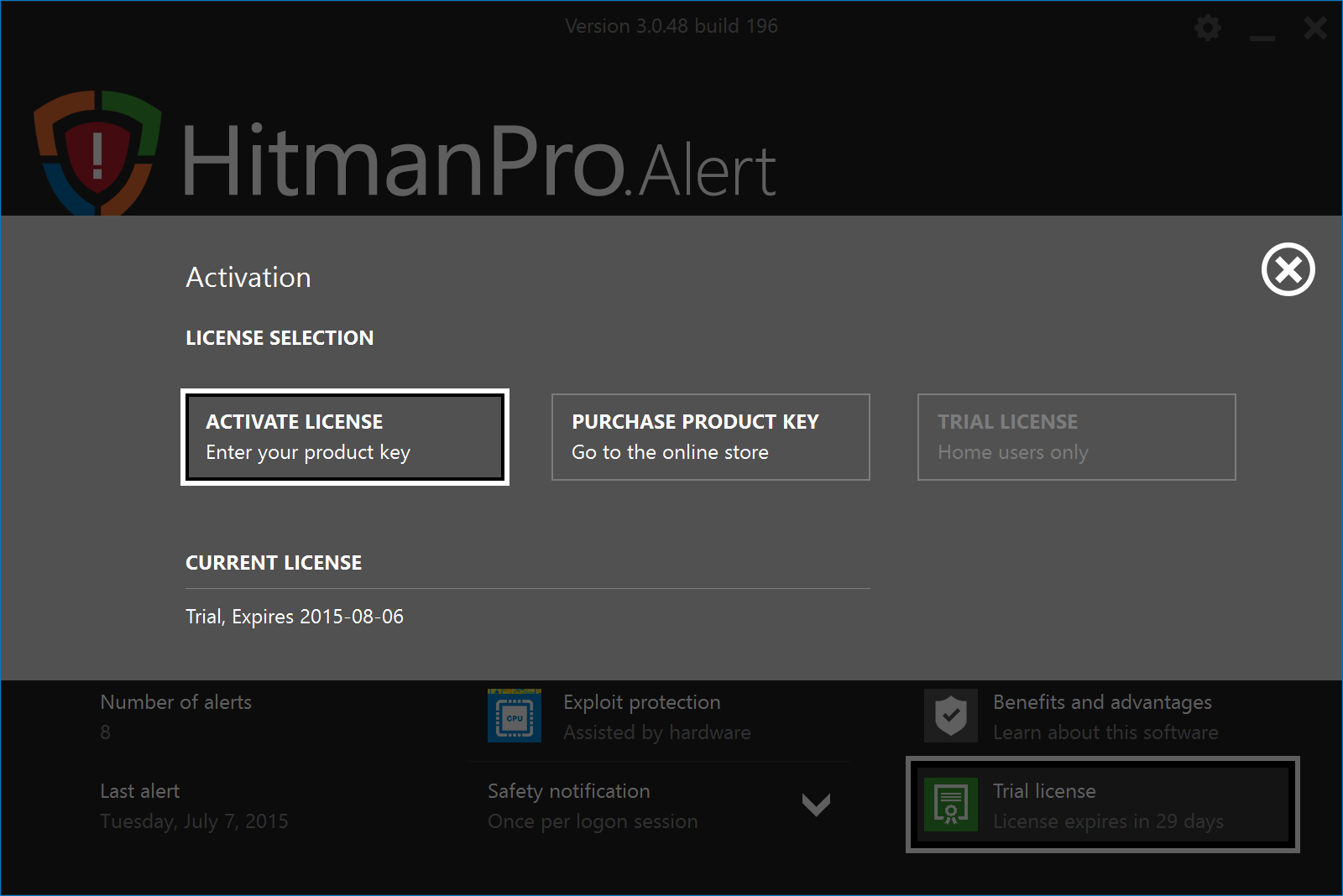 hitmanpro alert license