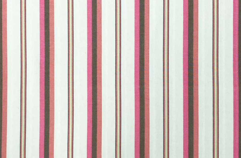 Pink And Cream Striped Fabric 100