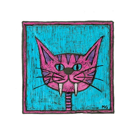 Pink stripey cat picture Portrait of a pink stripy by stupidcats