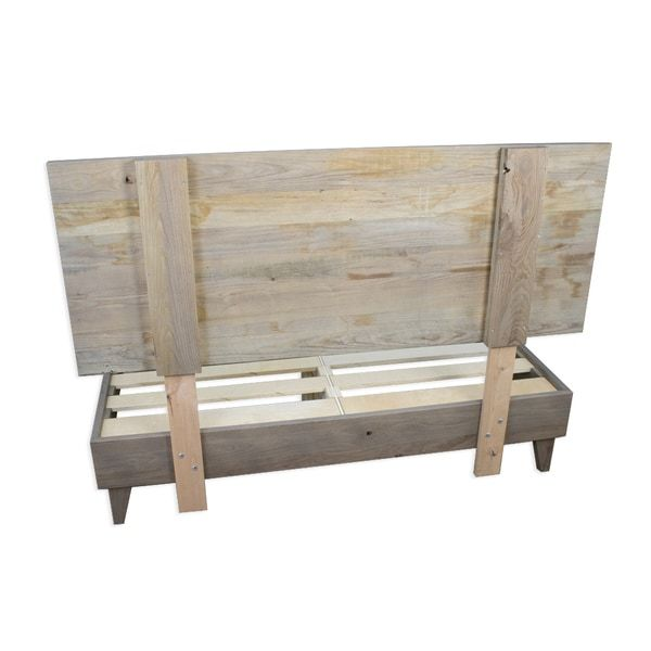 Kotter Home Grey Brown Barnwood Headboard With Images Barnwood Headboard Diy Headboard