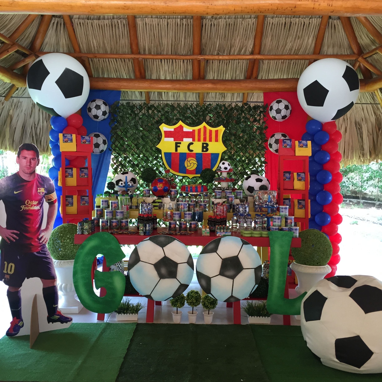 Barcelona birthday fiesta barcelona soccer barcelona - Decoracion infantil barcelona ...