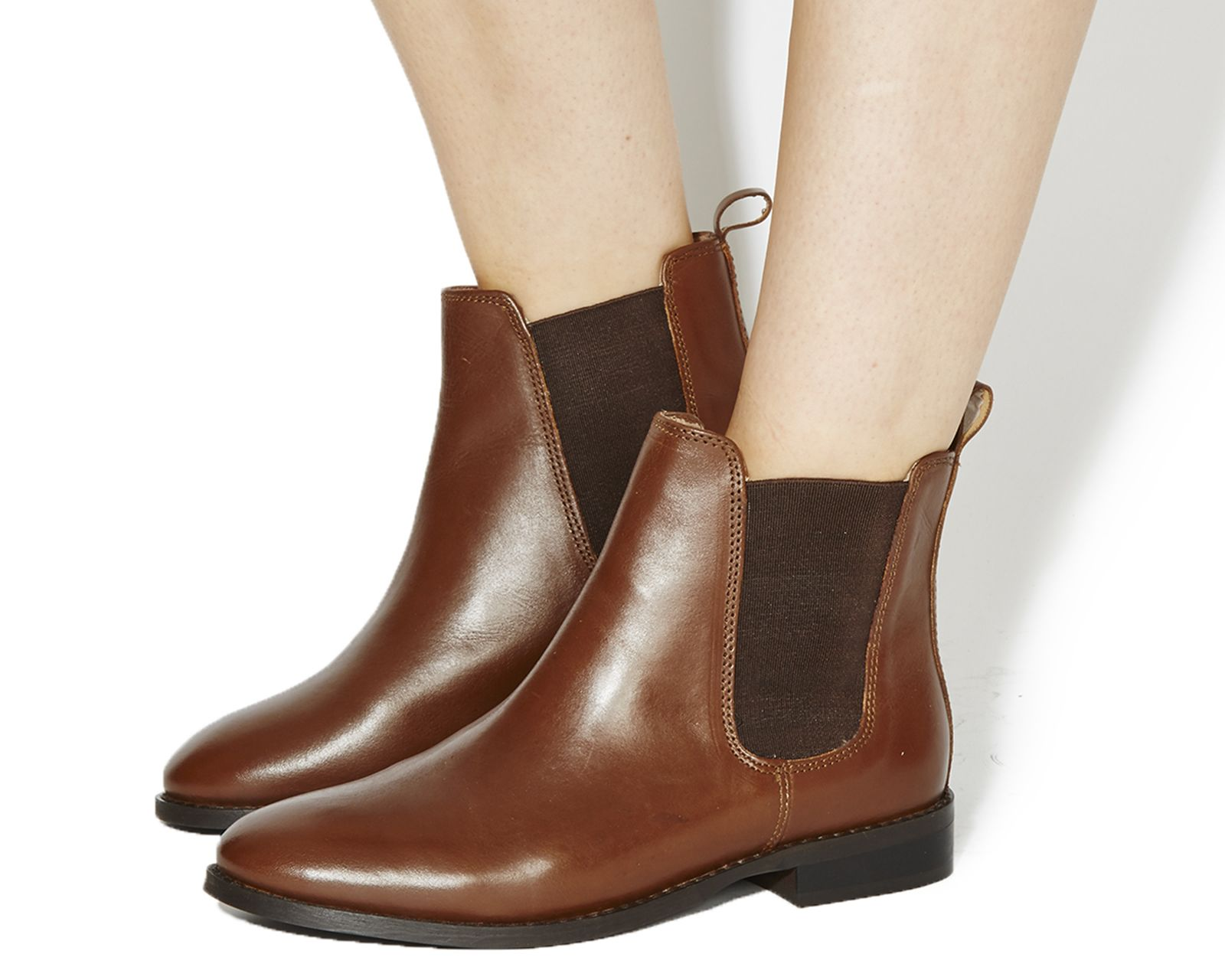 Office Bramble Chelsea Boots Brown Leather - Ankle Boots
