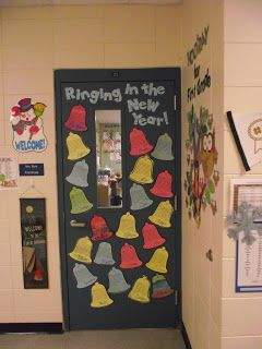 I'm back... catch up time!   January door decorations ...