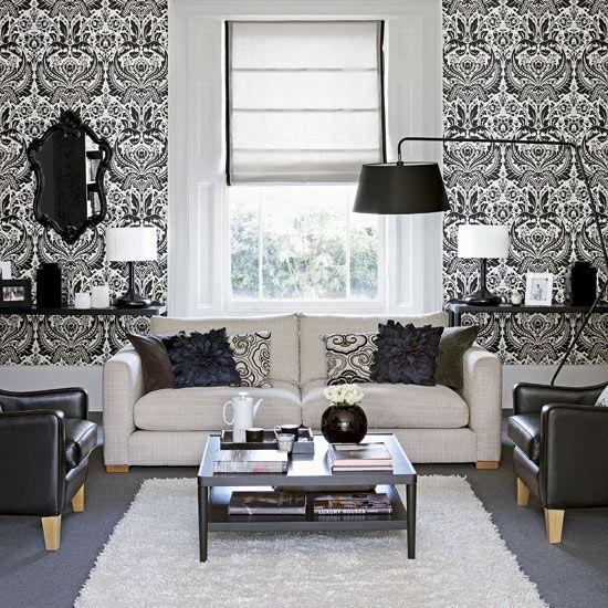 Beautiful Condo Living Rooms: Boudoir Wallpaper - Google Search