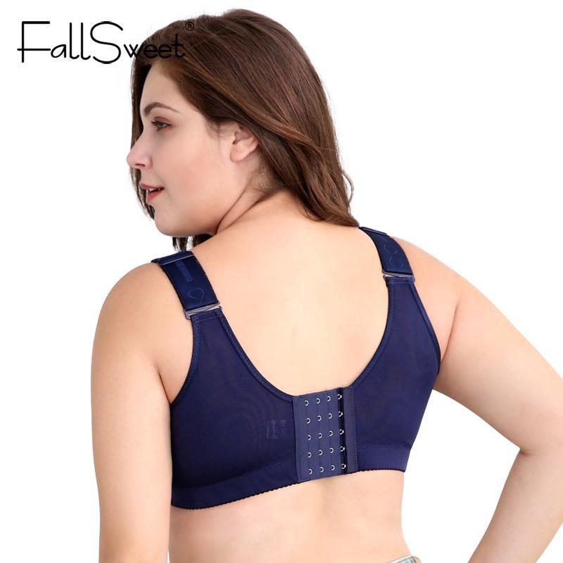 f9fe863bd1 Women Vest Bra Brassiere Wire Free C D Cups 36 38 40 42 44 46 Red Blue  Black Push Up Bras for Women Underwears