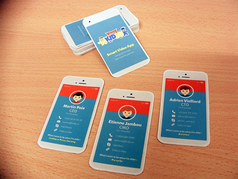 Carte De Visite Forme Smart Phone Pour Dveloppeur Dapplication