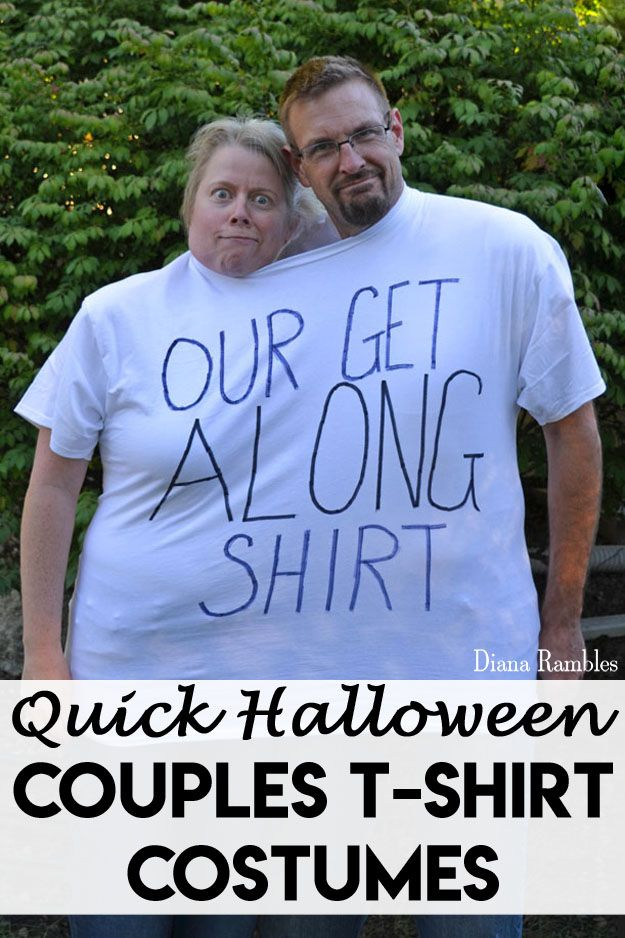 Simple Tshirt Couples Halloween Costumes - Need a last minute ...