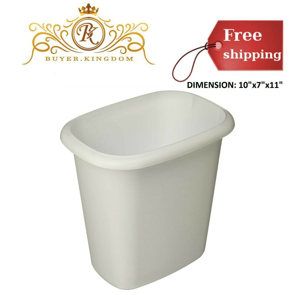 Small White Trash Can With Lid Garbage Can Garbage Can Ideas Garbage Can Garbagecan Trash