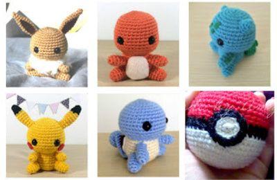 Amigurumi Tuto : Tuto pokémon gratuit au crochet et en français crochet
