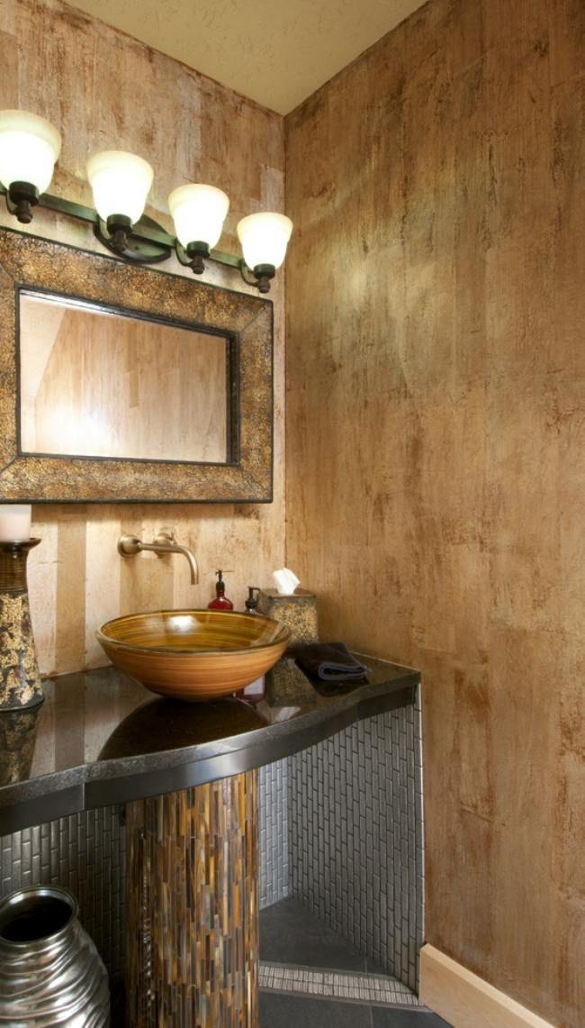 Dekorative maltechnik bad beige braun waschtisch - Waschtisch braun ...
