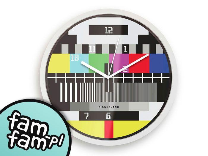 Fajny Zegar Scienny Tv Zegary Na Sciane Prezent 3708186619 Oficjalne Archiwum Allegro Retro Wall Clock Clock Wall Clock