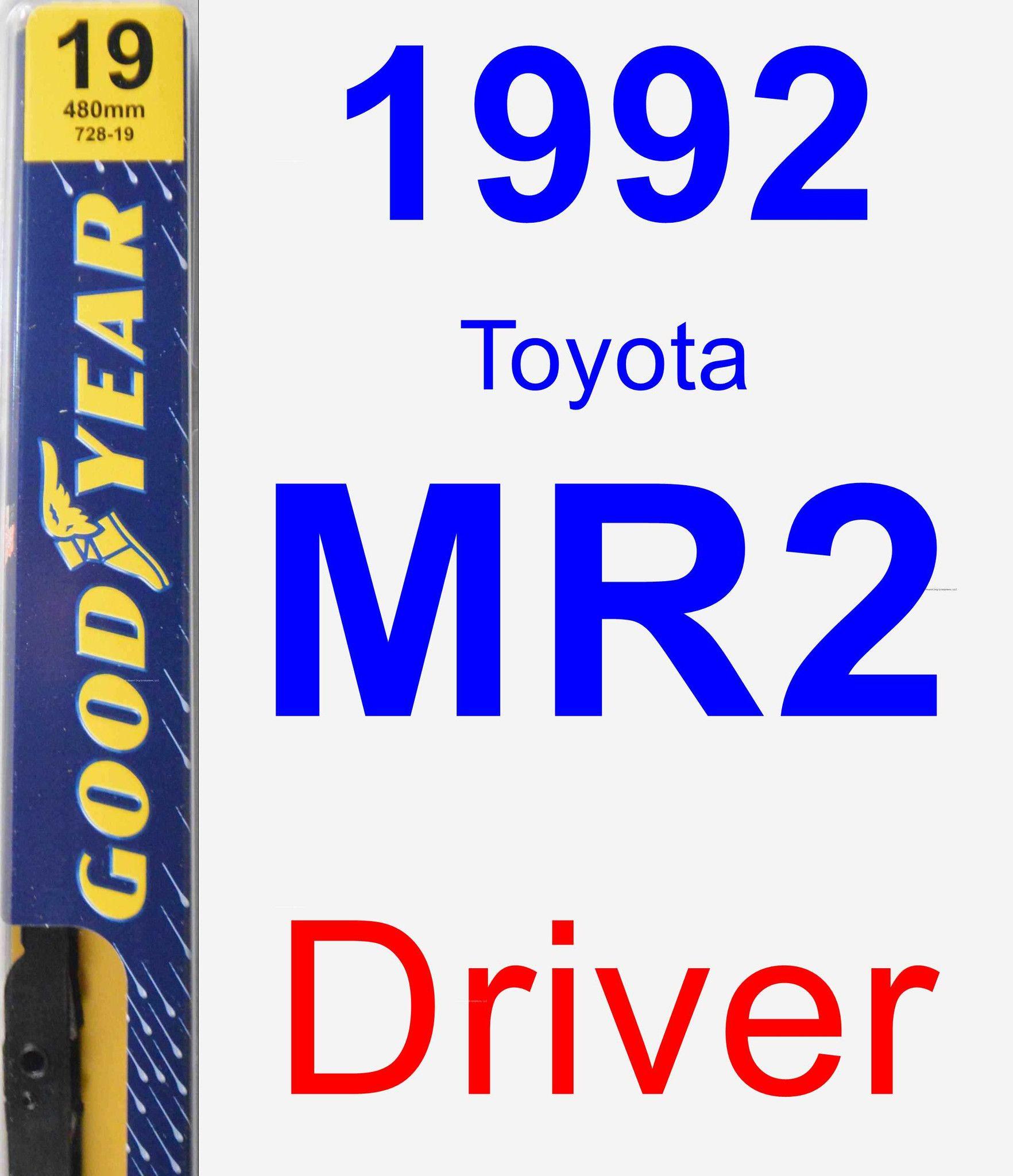 Driver Wiper Blade For 1992 Toyota MR2 - Premium