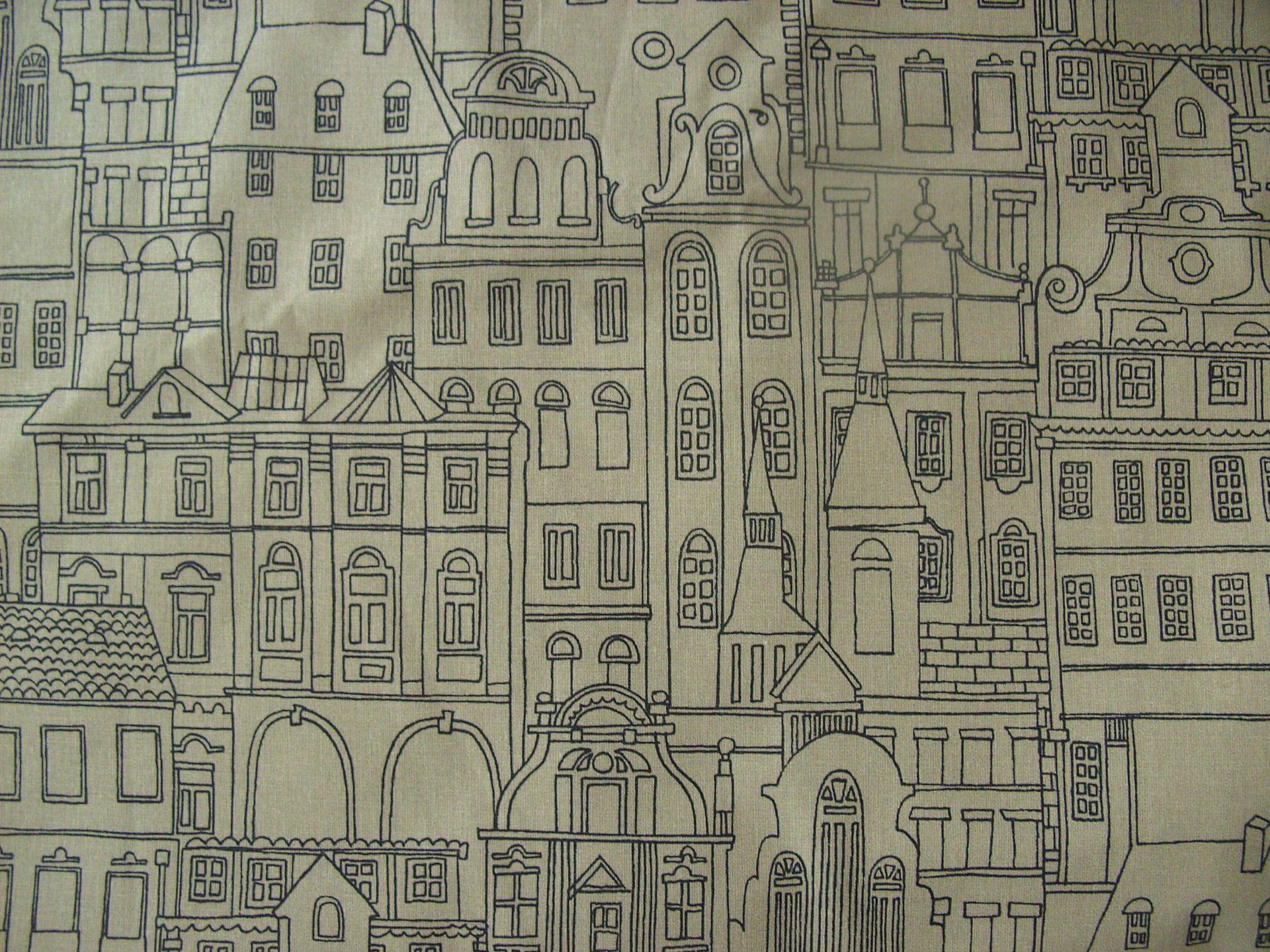 Tissu ameublement bachette 100 coton 100 140 cms facades - Tissu ameublement vintage ...