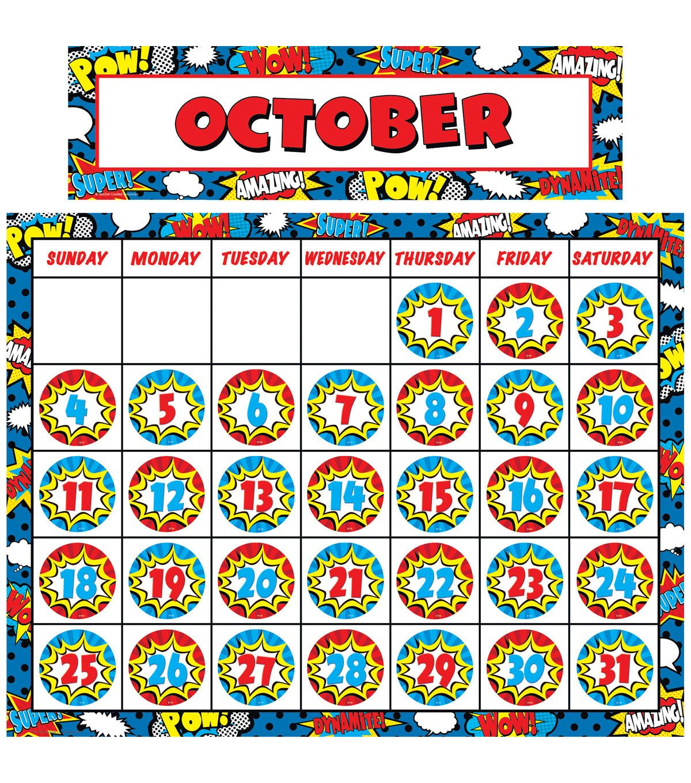 Teacher Created Resources Superhero Calendar Set 2 Sets