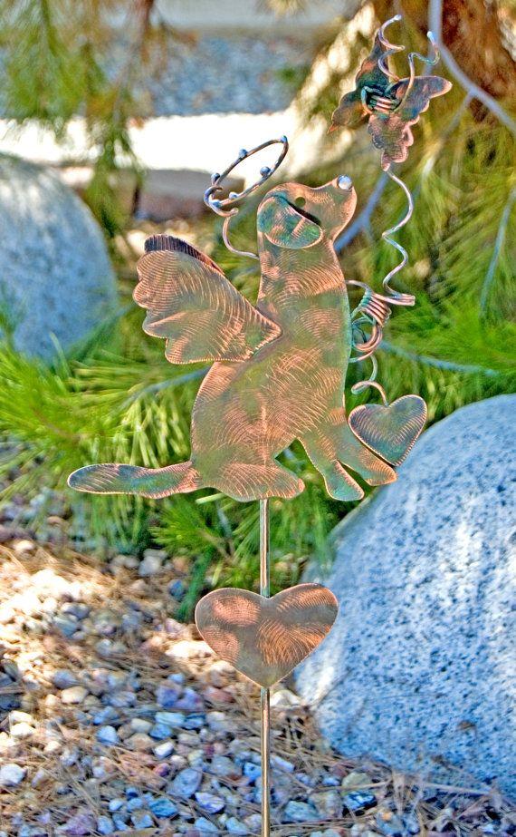 SOLD - RESERVED Labrador Stake / Pet Memorial / Metal Garden Art