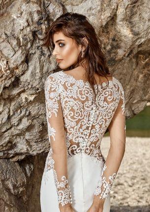 Brautkleid Isandra 2 Von Eddy K Mit Tattoo Spitze An Armen Und Rucken Hochzeitskleid Spitze Kleid Hochzeit Kleid Spitze