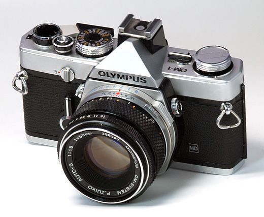 Olympus OM-1, my first slr bought while studying in Japan