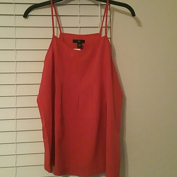 NEW!! GAP coral babydoll tank Coral babydoll tank w/ spaghetti straps and pleated detail in the front and back GAP Tops Tank Tops