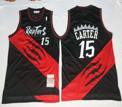 cda45d3f5 NBA Toronto Raptors 15 Vince Carter Black Throwback Basketball Jersey