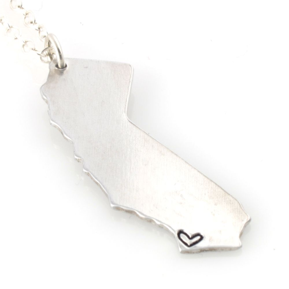 State Necklace - Where your heart is - Spiffing Jewelry