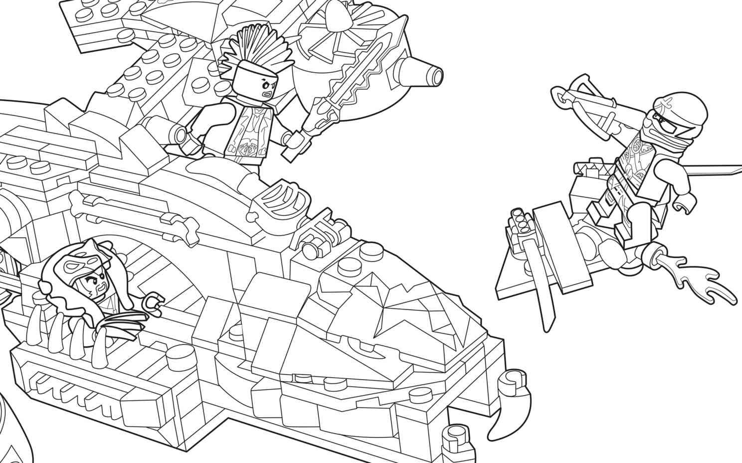 LEGO Ninjago 70746 Coloring Sheet