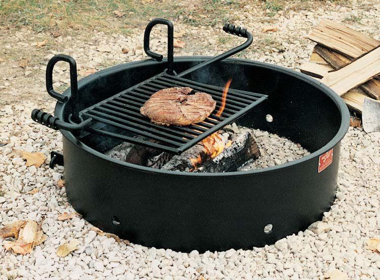 Campfire Cooksite Firering Grill Pilot Rock Fire Pit Fire Ring Cooking Grill Fire Ring Fire Pit Cooking Fire Pit Materials