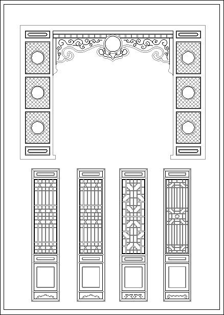 Chinese window lattice drawing – CAD Design | Free CAD