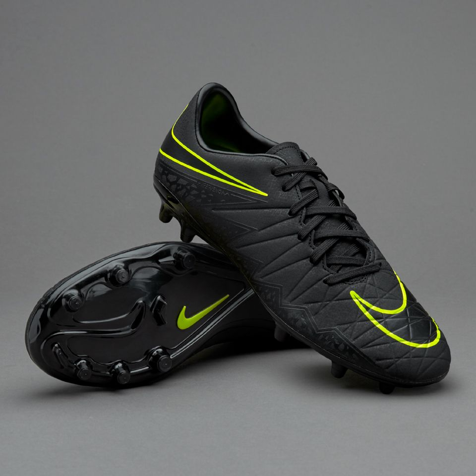8028f3eb7f7a8 Nike Hypervenom Phelon II FG - Black/Volt | my interests | Mens ...