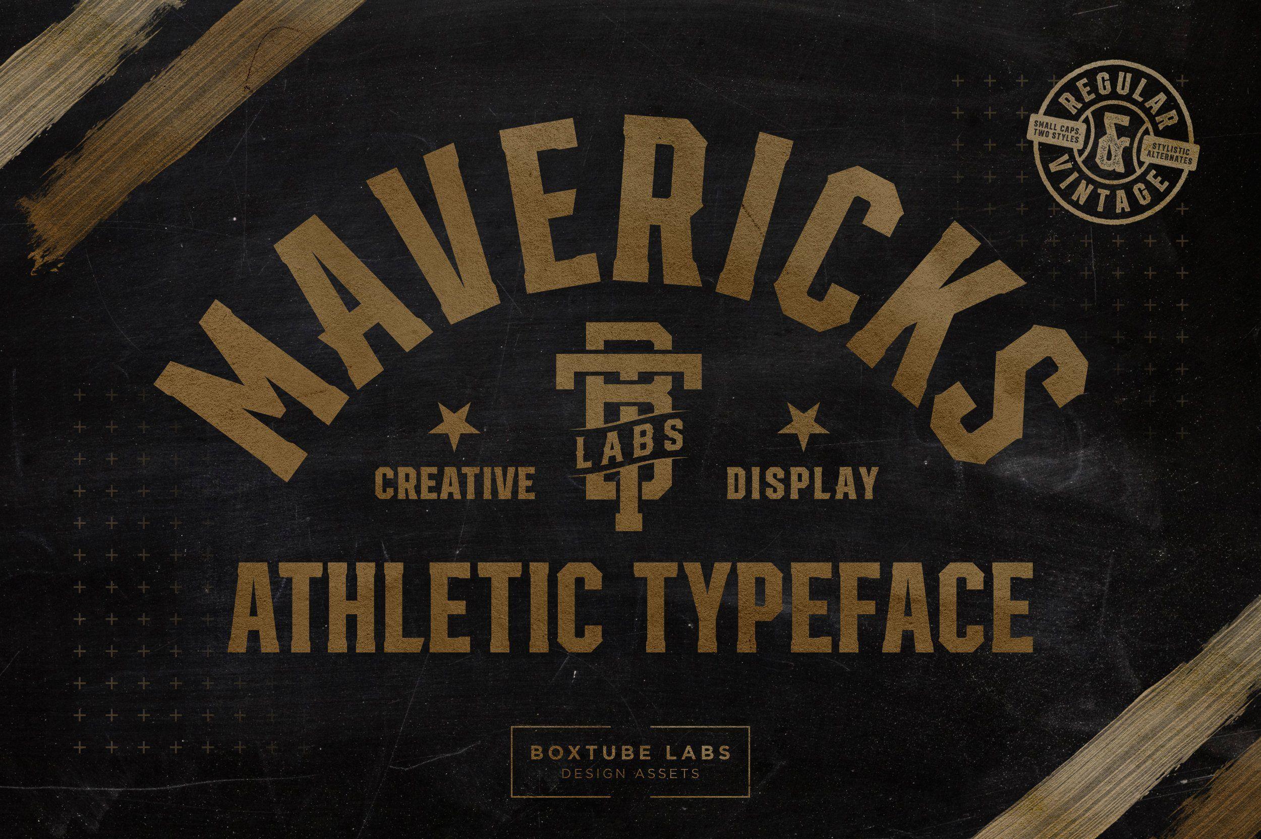Mavericks Sports Fonts Unique Fonts Typeface Design