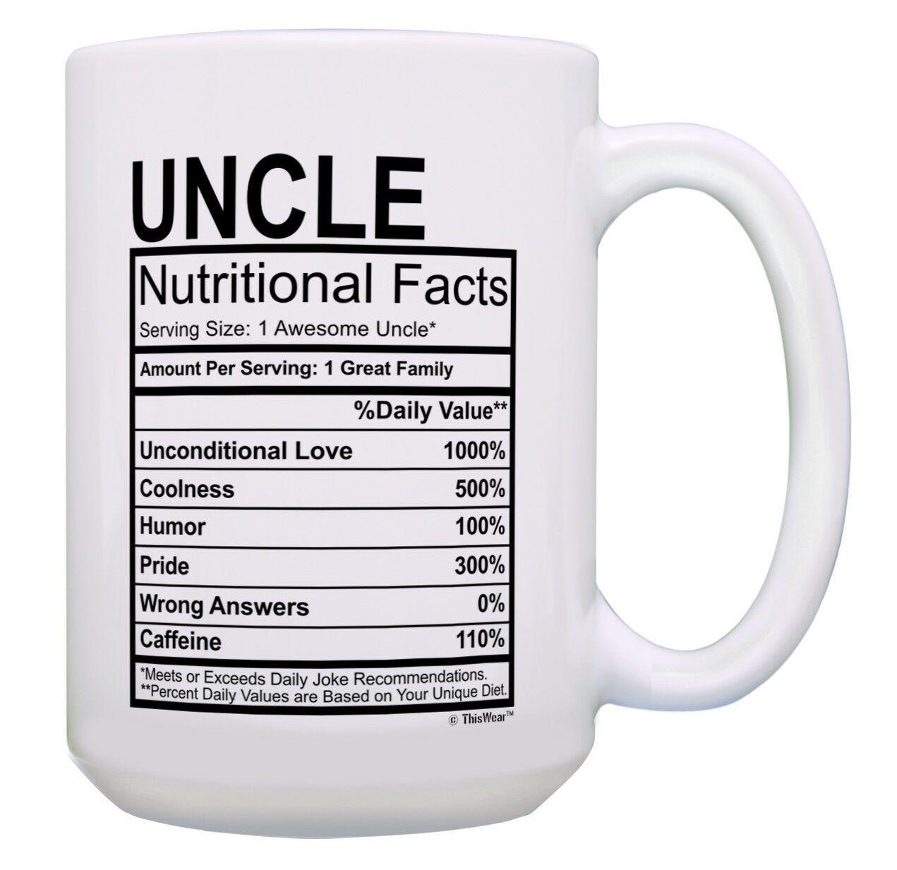 Funny Mom Birthday Gifts Mom Nutritional Facts Mug 1 Awesome Mom Cup 15-oz Coffee Mug Tea Cup White