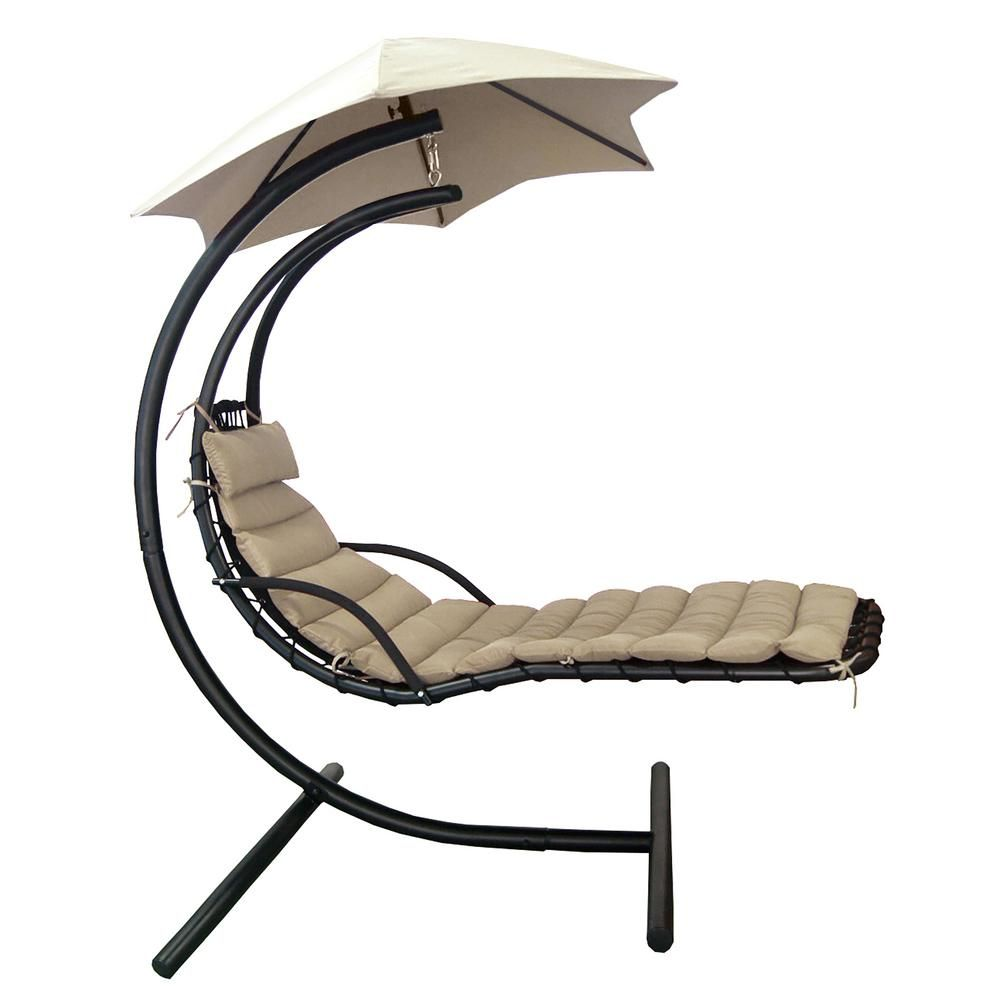Island Umbrella Island Retreat Outdoor Hanging Patio Chaise Lounge