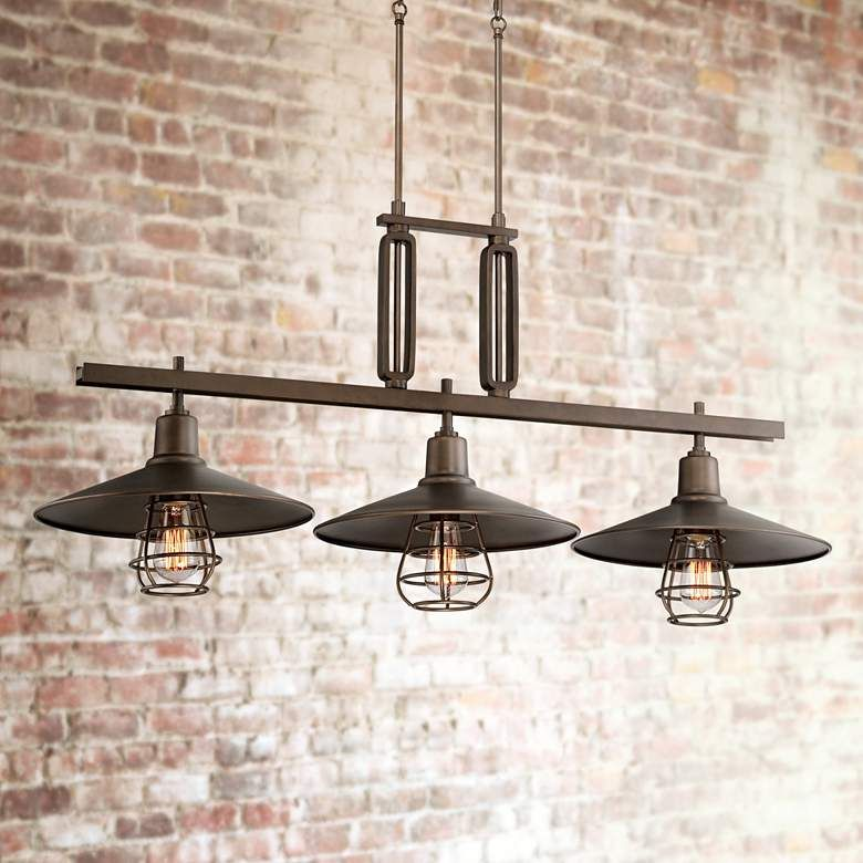 Garryton 44 Wide Bronze Kitchen Island Light Chandelier 8g601 Lamps Plus Kitchen Island Lighting Bronze Kitchen Rubbed Bronze Kitchen