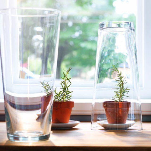 ikea 4 id es pour jardiner avec des objets du quotidien d tourn s un coin de verdure chez. Black Bedroom Furniture Sets. Home Design Ideas