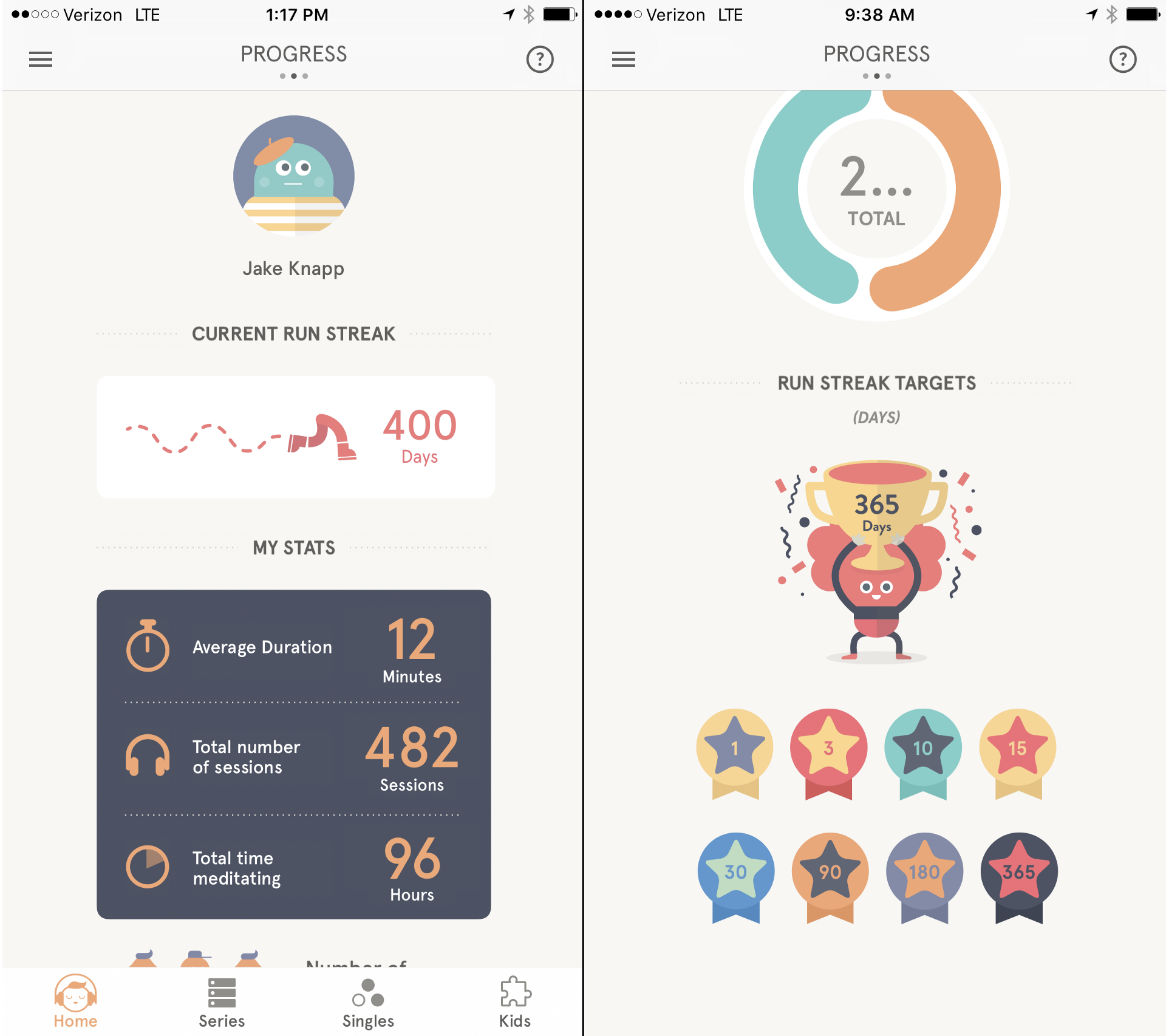 Image result for Headspace streak Headspace app, Reading