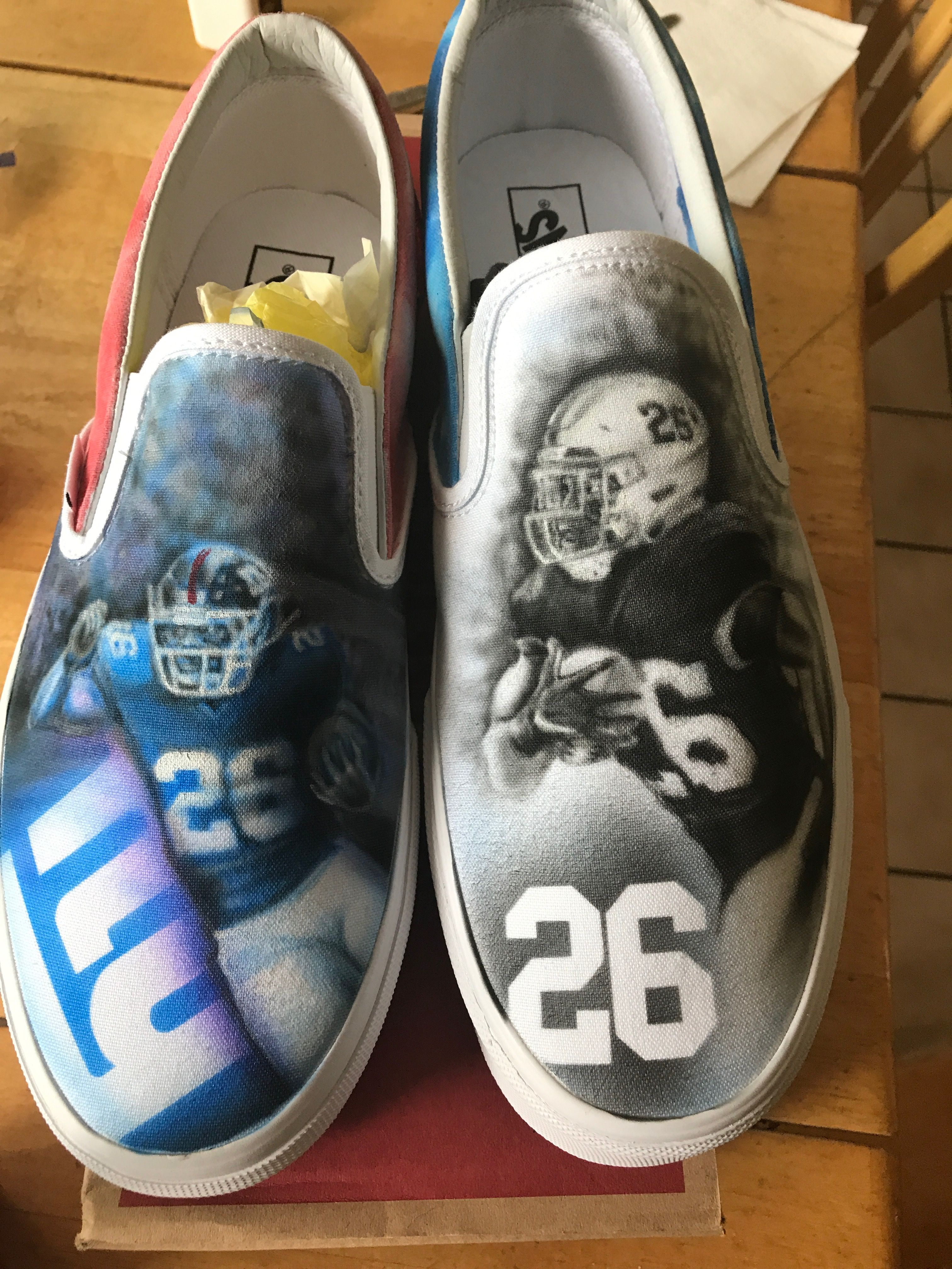 01d7c6e70 Custom airbrushed Saquon Vans we painted here at our 88 Custom Design shop