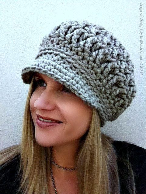 Newsboy Crochet Hat Pattern For Super Bulky Yarn The Chunksta
