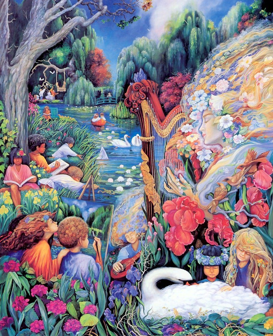 Ali Miner - Goddess & Children in Mr. Monet's Garden