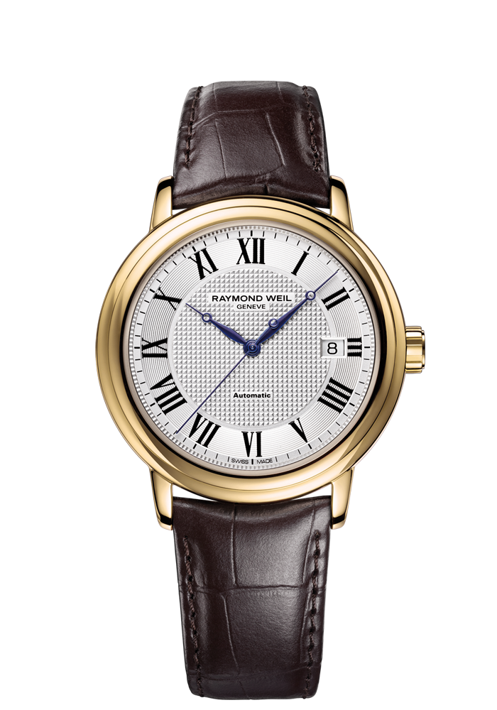 a4a58d169 Maestro 2837-PC-00659 Mens Watch - Maestro Automatic date Gold on leather  strap | RAYMOND WEIL Gen #luxurywatch #raymondweil Raymond-Weil.