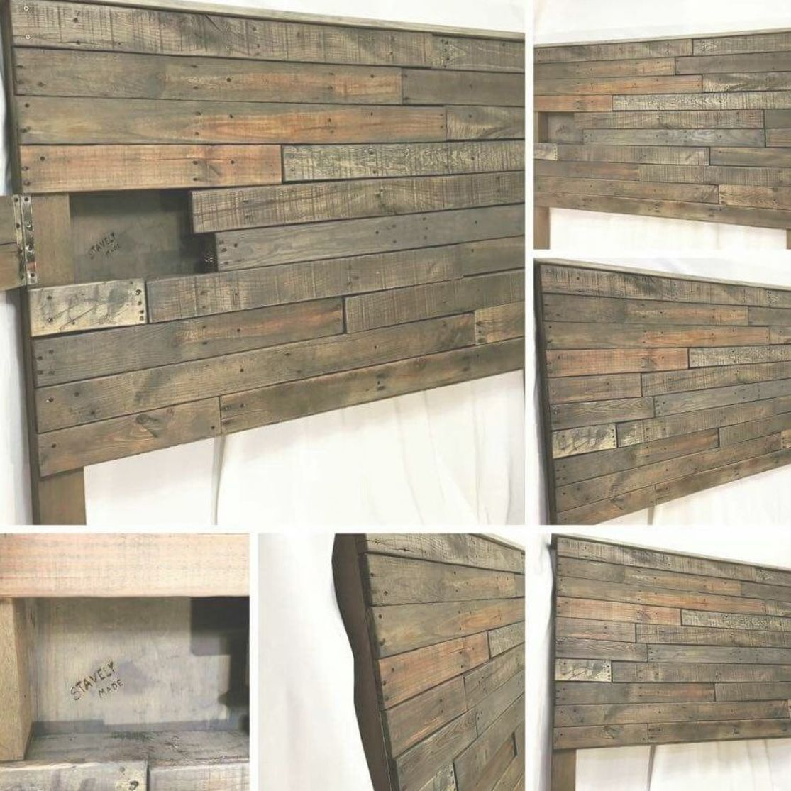 wood Headboard With Shelf Head Boards  Diy storage headboard Headboard storage Pallet headboard Diy bed Beauty bedrooms Diy headboard