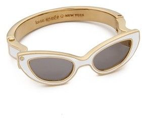 2764e542b43 Kate Spade New York In the Shade Bracelet  katespade  shades  sunglasses   gold  white  bracelet  statement  jewelry  fashion