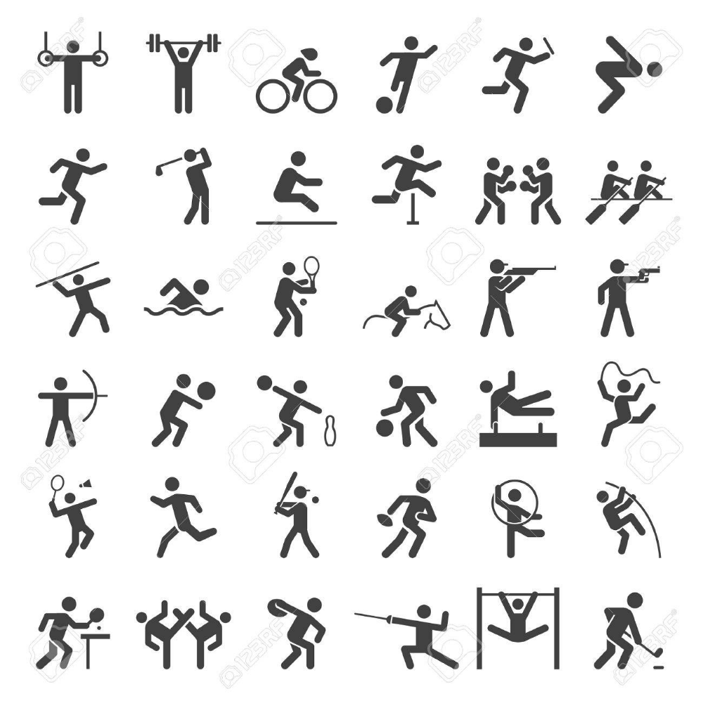 Definir Des Icones Du Sport Illustration Pictogramme Sport Facilitation Graphique Dessin Sport