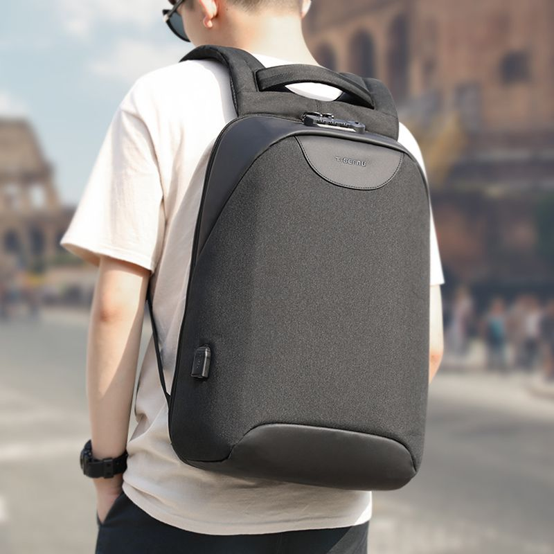 No Key Anti theft TSA Lock Fashion Men Backpacks 156inch USB Charging Laptop Male Mochila 18L College School Backpack for Boys